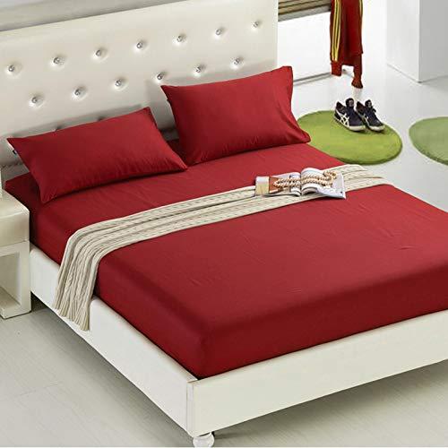 uyeoco Protector de colchón Microfibra - Transpirable - Funda para colchon estira hasta de Profundidad (Color : K, Size : 180 * 200+20cm)