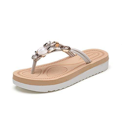 LIUCHANG Sandalias de playa y zapatillas de verano para mujer sandalias de mujer chanclas con ultra suave y cómodo Flip Flop para mujer, RFV, 40 liuchang20