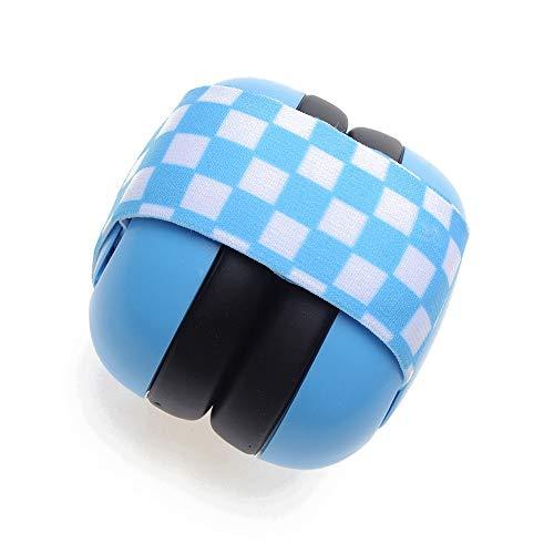 Goodvk-HM Orejeras de protección auditiva Banda elástica recién Nacida bebé Orejeras insonorizadas Niño Orejeras de Ruido para bebés de 2 Meses (Color : Azul)