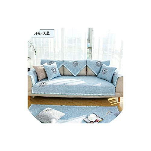 XUELI Funda de sofá de algodón/línea a prueba de suciedad Protector de sofá 2019 nuevas fundas antideslizantes suaves para sala de estar seccional, 6,70120 cm-1-110160 cm