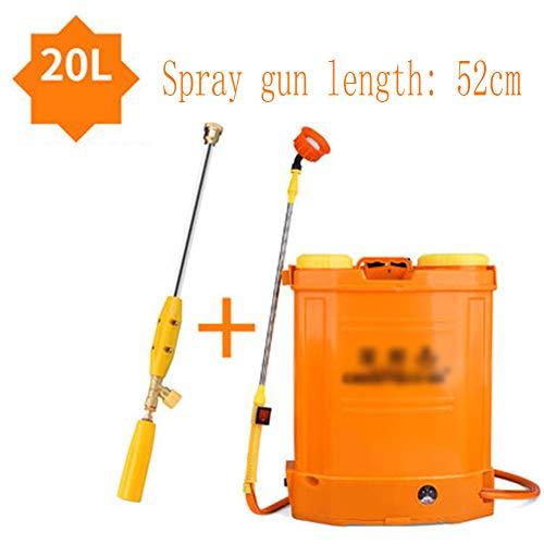 DDPWQ Elektrisches Drucksprühgerät, Drucksprühgerät mit Batterie, Rückenspritze, mit Autowaschset, Verwenden für Pestizidspray, Gemeindegrünung, Reinigung von Autos
