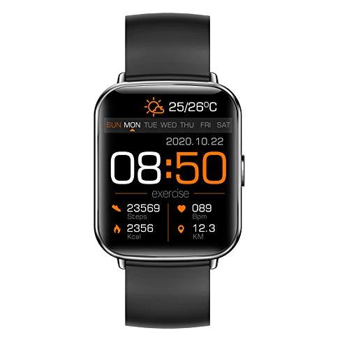 Reloj inteligente para fitness con pulsómetro, monitor de sueño, podómetro, cronómetro, reloj deportivo para hombre y mujer, compatible con Android e iOS