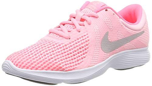 Nike Revolution 4 (GS), Scarpe da Trail Running Donna, Rosa (Arctic Punch/Metallic Silver 600), 36.5 EU
