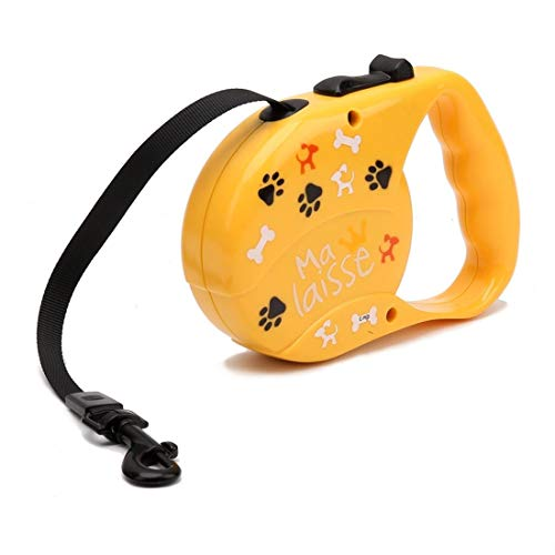 CSMZ Pet Supplies 3M automatische inklapbare huisdier trekkabel Geel, Patrol Rope loopband Traction (Color : Yellow, Size : 3M)