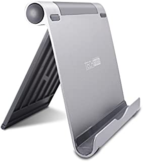 TechMatte Tablet Stand-Adjustable Multi-Angle Aluminum Stand Holder for iPad Pro, Tablets, E-Readers (Up to 13inches, Silver/Grey)