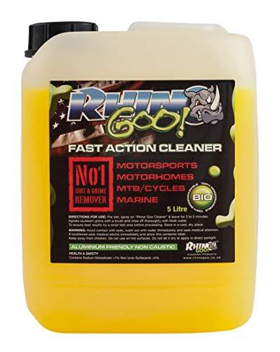 Rhino Goo! Fast Action Cleaner 5L - Detergente sgrassatore e Catena per Mountain Bike, Bici da Strada, Moto da Cross, Quad e Moto da Strada