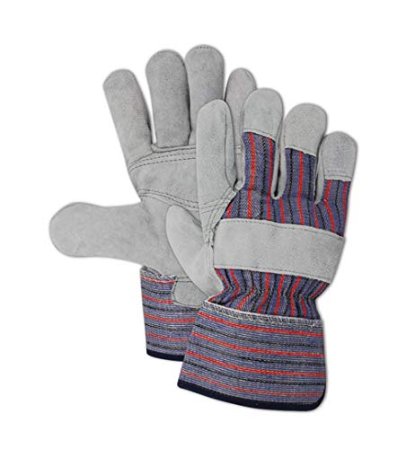Magid TB725EPP Top Gunn Double Layer Split Leather Palm Work Glove with Safety Cuff, Work, Large, Tan (Case of 12)