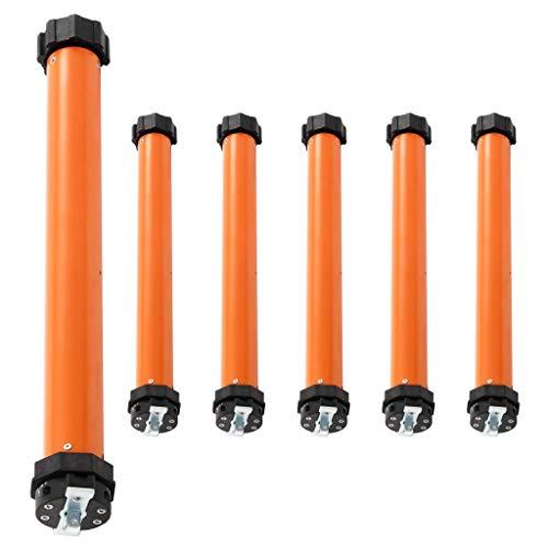 Bulufree Motores tubulares de 6 Piezas, par de Salida 20 NM, Utilizado para la automatización de toldos, Puertas de Garaje, persianas enrollables y parasoles
