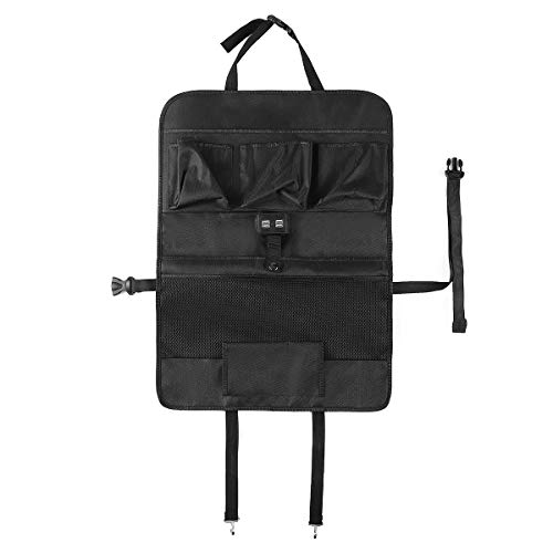 YONGYAO Negro Oxford Coche Asiento Back Storage Bolsa Multi-Pocket con 4 Puertos USB Universal
