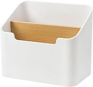 Bureau Organisateur de contrôle à distance Boîte de rangement cosmétique Papeterie Container blanc, boîte de rangement