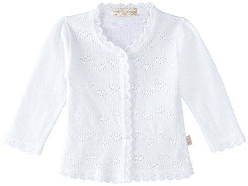 Lilax Baby Girls' Little Hearts Knit Cardigan Sweater 9 Months White