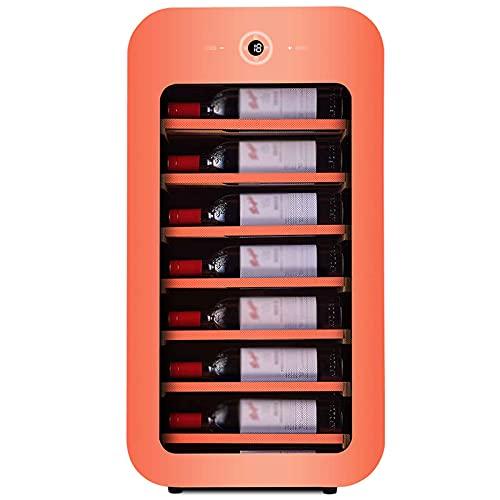 Vinoteca 22 Botellas, con Display Digital Y Panel De Control Táctil Control Electrónico De La Temperatura Enfriador De Vino Electrico Luz Interna LED