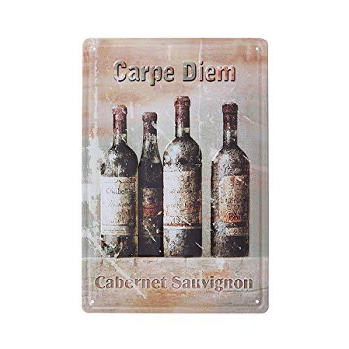Vosarea Plaque en métal Vintage Rétro Rustique Décoration Plaque Vintage pour Maison Cafe Bar Pub Bière Décoration (Buvez Une Bonne bière avec de Bons Amis) (Size 2)