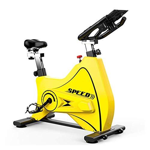 ZAIHW Heimtrainer - Fitness Bike Spin Bike Heimtrainer und Ideal Cardio Trainer - Sport Gym Bike Ausrüstung Cycle Trainer (Color : Yellow)