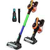INSE Cordless Vacuum Cleaner Powerful Suction Stick Vacuum Lightweight Quiet Rechargeable 1.2 L Large Dust Cup Handheld Vacumm for Home Car Pet Hair Carpet Hard Floor - N5