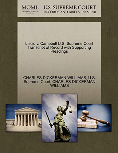 Liscio v. Campbell U.S. Supreme Court Transcript of Record with Supporting Pleadings