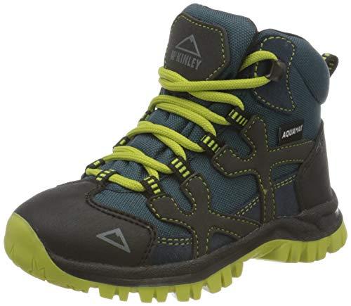 McKINLEY Unisex-Kinder Trekkingstiefel Santiago Pro AQX Trekking-& Wanderstiefel, Grau (Anthracite/Blue DAR 000), 31 EU*