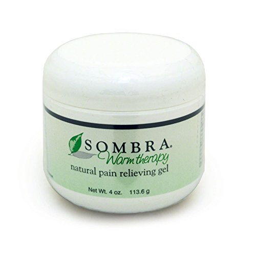 Sombra Warm Therapy Natural Pain Relieving Gel- Great Smelling Quick Absorption Formula for Pain Relief (4oz Jar), White