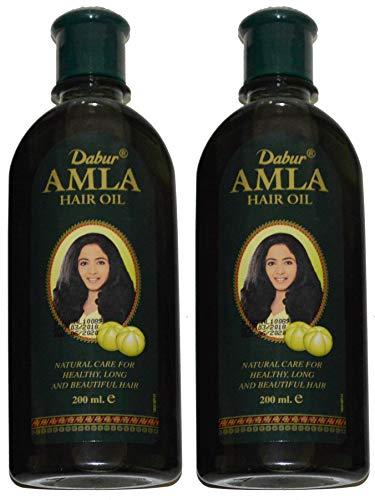Dabur Amla - 2 aceites para el cabello, 200 ml, para el crecimiento del cabello, prevención de la caída del cabello, 400 ml