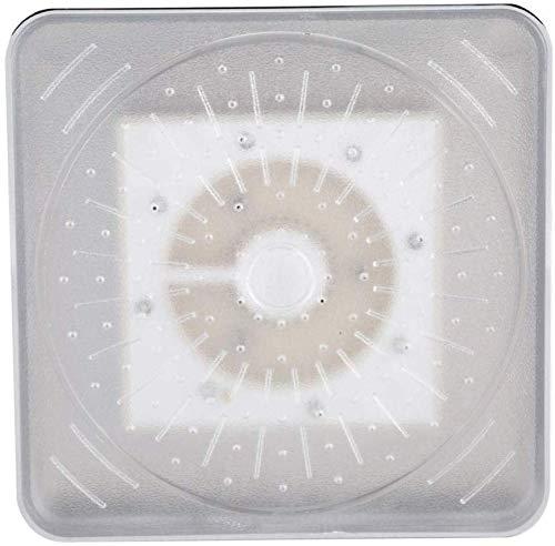 Vaste douchekop met LED-verlichting, vierkant, geschikt voor badkamer in hotel, 6 inch LED-licht, douchekop met 3 kleurveranderingen, 150 mm