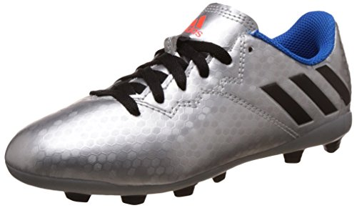 adidas Messi 16.4 FxG J, Botas de fútbol para Niños, Plata (Plamet/Negbas/Azuimp), 31 EU