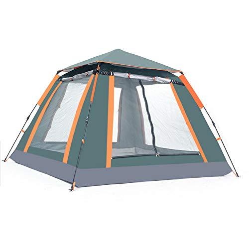 Pop-Up Zelt für 3-4 Personen 215 x 215 x 142 cm Schnell Up System schnell Pitch Faltbare Festival-Zelt mit eingenähtem in Bodenmaterial UV-Schutz leichten, tragbaren,Grün