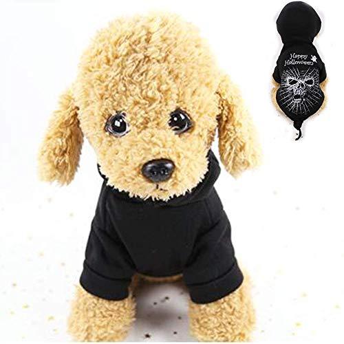 TEHWDE Cute Small Dog Clothes Halloween Funny Black Horror Decoration Cat Pet Clothes Funny (2pcs),XXL-Basic Halter Harnesses