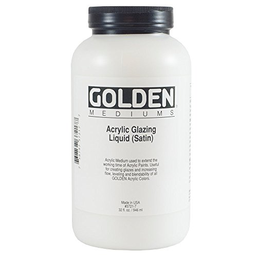 Golden Acrylic Medium, Glazing Liquid, 32 Oz, Satin