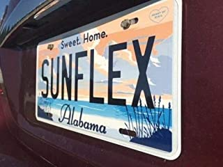 SunflexZone Lisence Plate Cover License Plate Protector Anti ir Light Tracking car Plate Frame tag