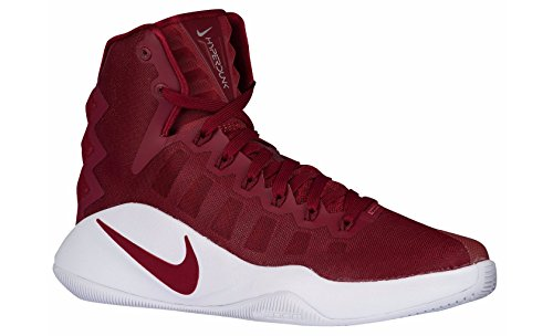 Nike Women's Hyperdunk 2016 TB Basketball Shoes (14 B(M) US, Team Red/Metallic Silver)