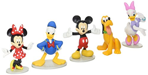 Just Play Disney Mickey Mouse Collectible Figure Set (Mickey, Minnie, Daisy, Donald, and Pluto)