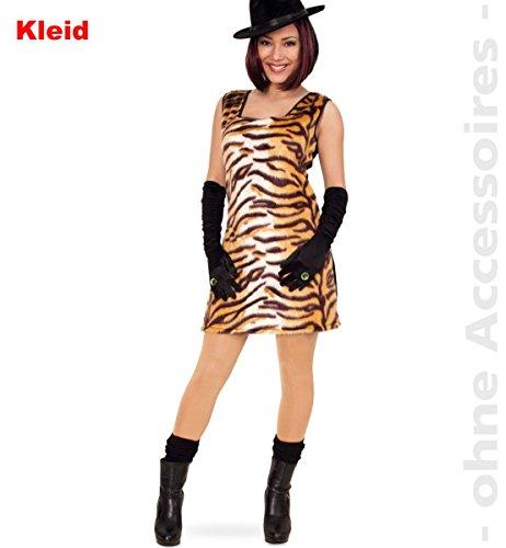 FRIES Damen Kostüm sexy Tiger Katze Kleid Karneval Fasching Gr.42