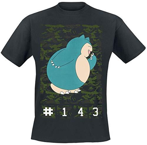 Pokemon Relaxo T-Shirt schwarz XXL
