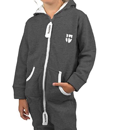 Gennadi Hoppe Kinder Jumpsuit Overall Jogger Trainingsanzug Mädchen Anzug Jungen Onesie,dunkel grau - 3