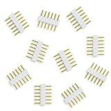 GIDERWEL 6-Pin to 6-Pin LED Strip Connector for Philips Hue Lightstrip Plus V3 and 6 Pin Female Wire,All Standard Width 12mm RGBWW RGBCCT Strip Lights (10pcs,6-pin Male to Male Strips Plugs)