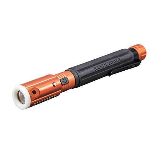Klein Tools 56026 Pen Flashlight, Inspection Penlight with Laser Pointer