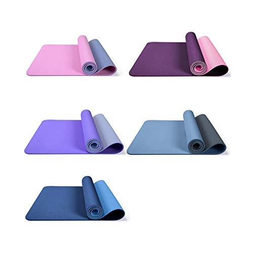 FR&RF Tapis de yoga anti-déchirure pour le yoga, le Pilates et la pratique de haute densité, antidérapant, résistant à la transpiration, résistant à l'humidité L noir foncé