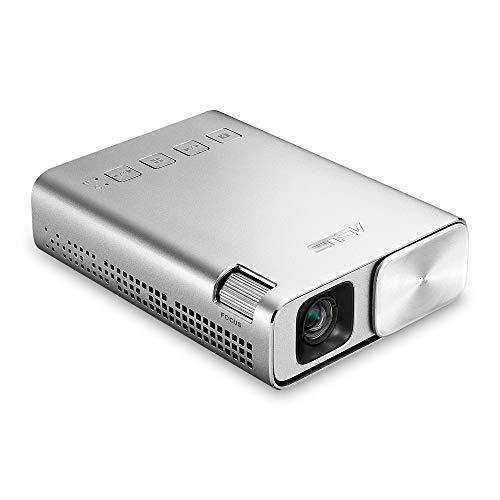 Proiettore LED E1 Zen Beam di Asus (ingressi HDMI MHL, USB, risoluzione: 854x 480, batteria), colore argento