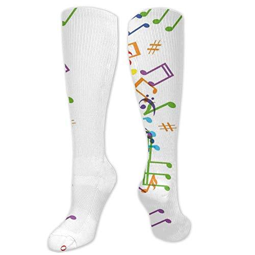Calcetines altos de compresión con diseño de primavera con flores pequeñas y simples, calcetines para mujeres y hombres, ideales para correr, atletismo, senderismo, viajes, vuelo.
