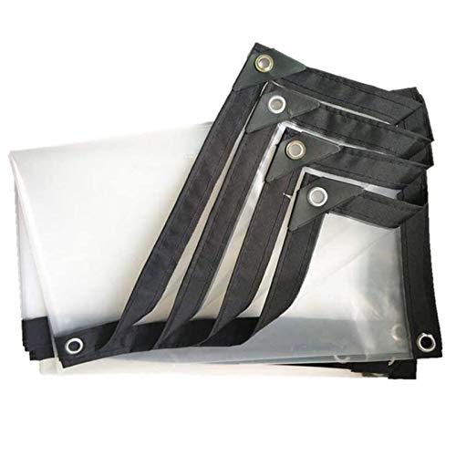 QIAOH Lona Transparente Impermeable Exterior 6x9m, Lona De Plástico Impermeable, Transparente Impermeable Lona Fuerte Duradero ProteccióN FríO para Coche Carpa del
