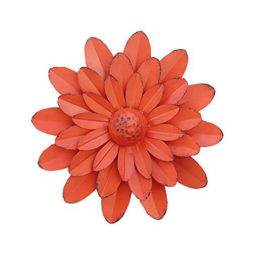 WLHER Décorations d'art Mural Fleur en Métal, Oeuvre Bohème, Art Déco 3D Fait À La Main, Cadeaux Faits À La Main pour La Fête des Mères À L'intérieur Ou À L'extérieur