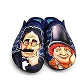 Sevillas 9174|Chinela de Hombre| Chancletas de Andar por Casa|Zapatillas para el Hogar|Flexibles para Mayor Comodidad| Antidelizantes |Groucho Marx|Azul (42)