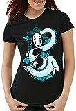 style3 Midnight Spirit Camiseta para Mujer T-Shirt zauberland Reise Anime Manga Chihiro, Talla:S