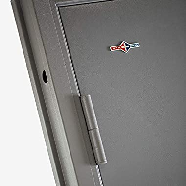 VIZ-PRO Quick Mount Steel Security Door with Frame and Hardware, Gray Right Side-Hinged Outward, 36″ Door Slab.