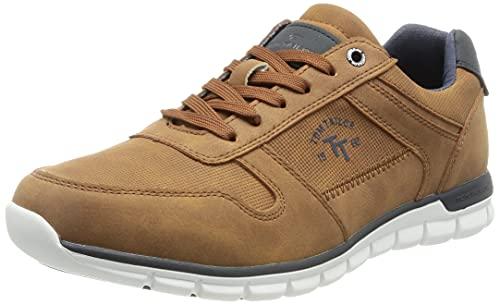 TOM TAILOR Herren 1181901 Sneaker, Cognac, 44 EU