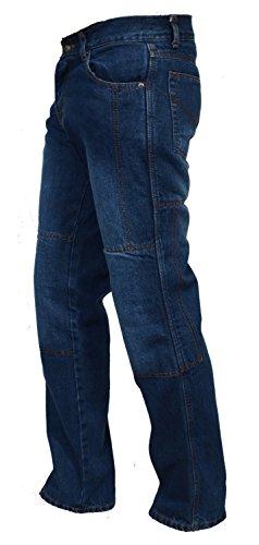 Juicy Trendz Men's Denim Motorcycle Motorbike Sports Jeans with Aramid Protection Lining Dark Blue