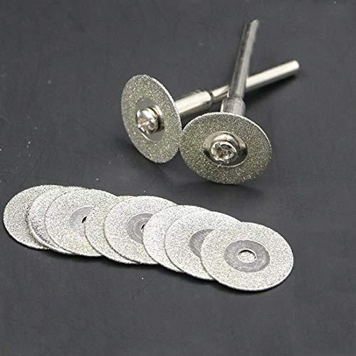 ZLININ Por hoja de calor broca de la herramienta de corte de diamante 60 mm pequeño FOR Dremel diamante giratorio de acero circular molino de hoja de sierra circular