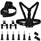 Action Camera Accessories Kit, Adjustable <span class='highlight'>Chest</span> <span class='highlight'>Mount</span>, <span class='highlight'>Harness</span> <span class='highlight'>Mount</span>, Replacement <span class='highlight'>Chest</span> Strap <span class='highlight'>Mount</span> Compatible with Hero 8 7 6 Crosstour Akaso EK7000 Brave 4 Campark ACT74