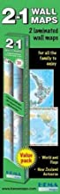 Twin Pack Maps: New Zealand, World & Flags