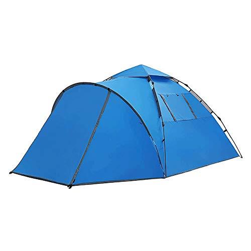 Tienda Camping al Aire Libre Tienda de campaña, fácil de llevar, portátil Mochila impermeable y cortaviento dos dormitorios dormitorio + sala de estar de doble bolsa de transporte, 3-4 de grandes cuen